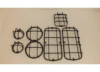 Защита фонарей на УАЗ 469, 452, Буханка, Хантер черн (Комплект 7 предметов)